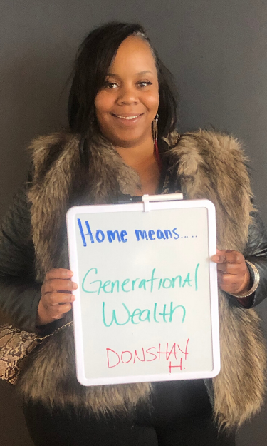 Home means generational wealth to Donshay