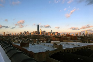 Rooftop view from Habitat Chicago