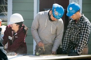 Habitat for Humanity Chicago AmeriCorps Volunteers at Work on the New Home Construction Site