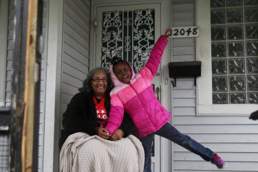 West Pullman family at home during Habitat Chicago repair project