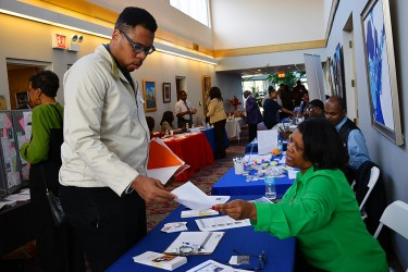 community residents at a resource fair