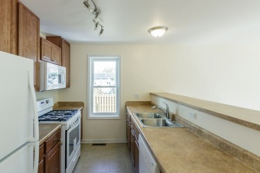 Kitchen in a Habitat house