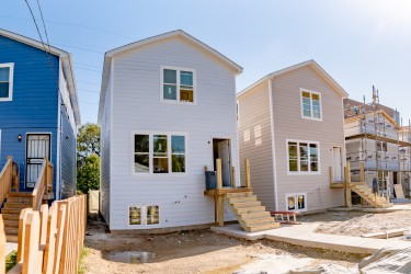 Habitat houses in a row