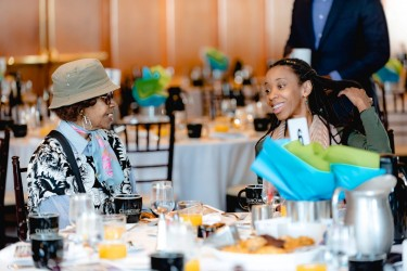 Homebuyer and her Grandmother at Habitat Chicago's Benefit Breakfast